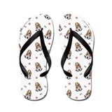 Bassets Bones n Paws White Flip Flops