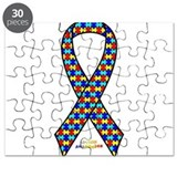 Autism Awareness Ribbon Puzzle