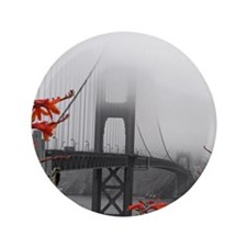 "Golden Gate Bridge with Orange 3.5"" Button"