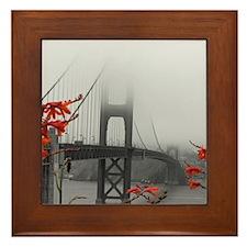 Golden Gate Bridge with Orange Framed Tile