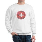 Nurse Practitioner ROUND RED GREY.JPG Sweatshirt