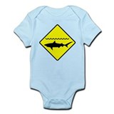 Shark Alert Sign Infant Bodysuit