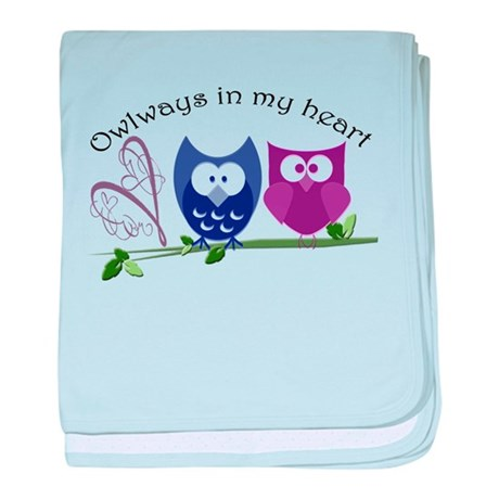 Owlways in my heart baby blanket
