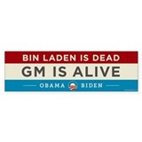 Bin Laden Dead, Auto Industry Alive Bumper Sticker