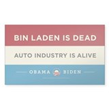 Bin Laden Dead, Auto Industry Alive Decal