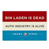 Bin Laden Dead, Auto Industry Alive Postcards (Pac