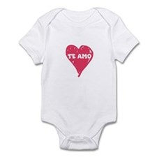 te amo infant bodysuit