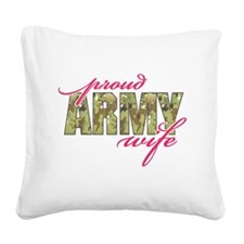 army wife multi cam.png Square Canvas Pillow
