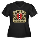 Amsterdam Netherlands Women's Plus Size V-Neck Dar
