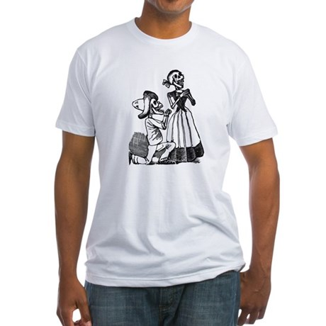 Calavera of Cupid Fitted T-Shirt
