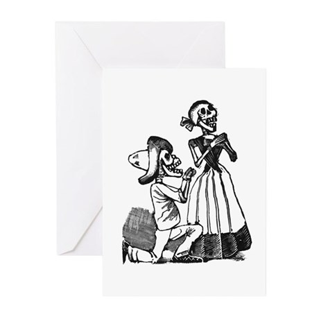 Calavera of Cupid Greeting Cards (Pk of 10)