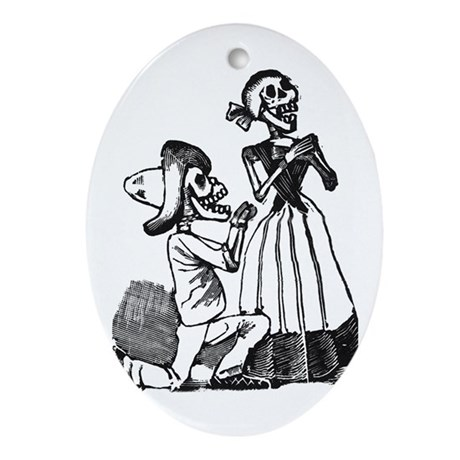 Calavera of Cupid Oval Ornament
