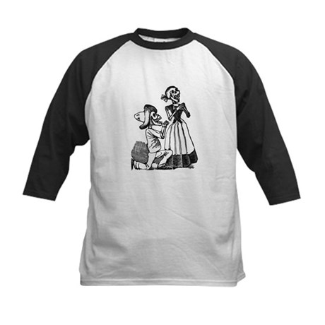 Calavera of Cupid Kids Baseball Jersey