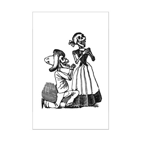Calavera of Cupid Mini Poster Print
