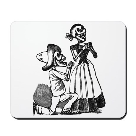 Calavera of Cupid Mousepad