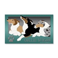 Smooth Collie Wagon Car Magnet 20 x 12