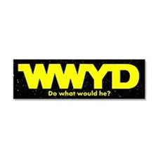 WWYD Yellow Car Magnet 10 x 3