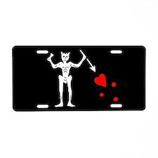 Blackbeard Flag Aluminum License Plate