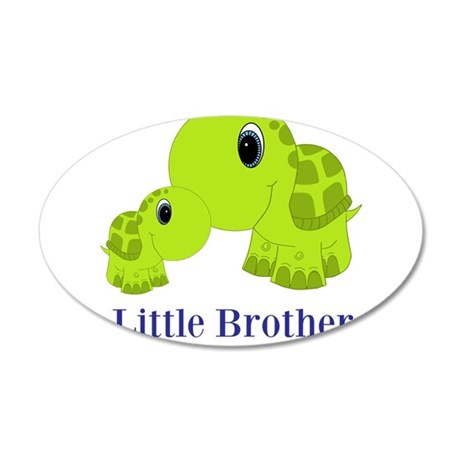 Little Brother BabyTurtle 35x21 Oval Wall Decal