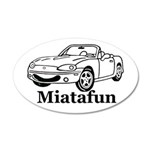 Miatafun 35x21 Oval Wall Peel
