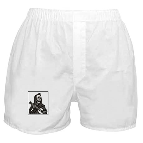 Calavera with Guitar Boxer Shorts