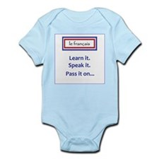 French Learn, Speak, Pass Infant Bodysuit