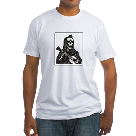 Calavera with Guitar Fitted T-Shirt