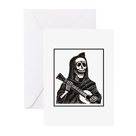 Calavera with Guitar Greeting Cards (Pk of 10)