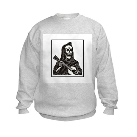 Calavera with Guitar Kids Sweatshirt