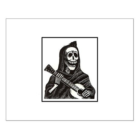 Calavera with Guitar Small Poster