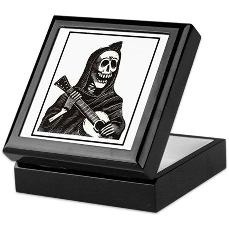 Calavera with Guitar Keepsake Box