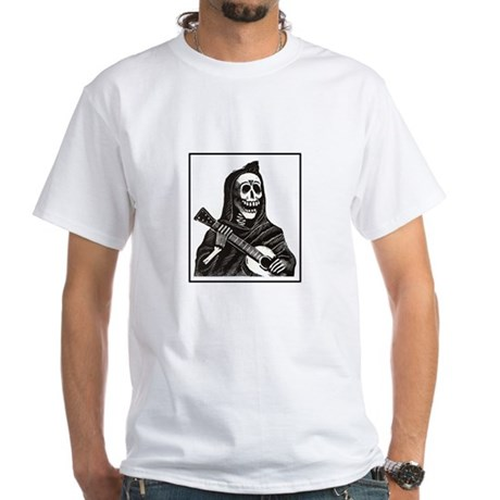 Calavera with Guitar White T-Shirt