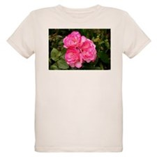 Rose, pink and white T-Shirt