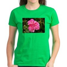 Rose, pink and white Tee