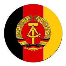 East German Army Round Car Magnet