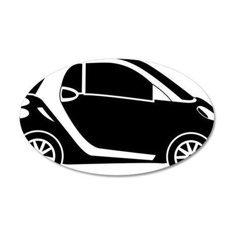Smart Car 35x21 Oval Wall Decal