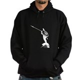 Leonidas the Great King - white on black Hoodie