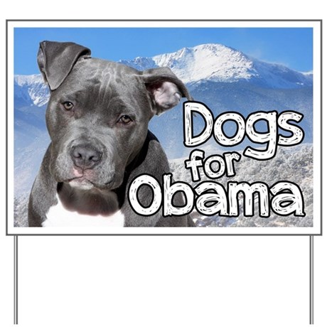 dogs for obama yard sign