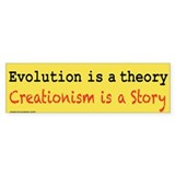 Evolution is a Theory Bumper Sticker