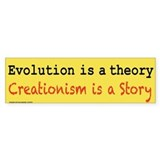Evolution is a Theory Car Sticker