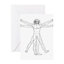Vitruvian Man Greeting Card