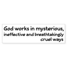 God Works In Mysterious Ways Car Sticker