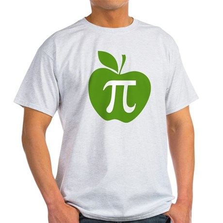 Green Apple Pi Math Humor Light T-Shirt