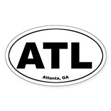 ATL (Atlanta, GA) Oval Decal