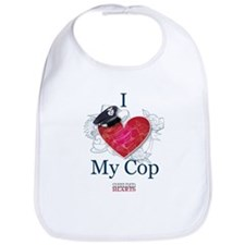 I Love My Cop Bib