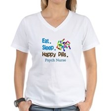 Eat Sleep Happy Pills blue brown LARGE.PNG Shirt