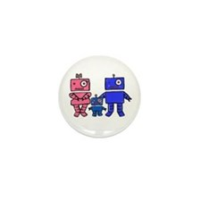 Robot Family Mini Button (10 pack)