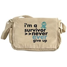 Never Give Up Prostate Cancer Messenger Bag
