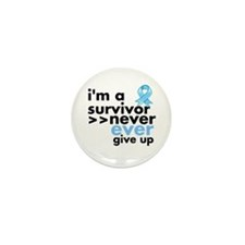Never Give Up Prostate Cancer Mini Button (100 pac