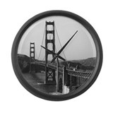 Vintage Golden Gate Bridge Large Wall Clock